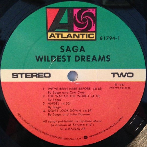 SAGA: Wildest Dreams LP + inner with lyrics. Check video + samples. HIGHLY Recommended.