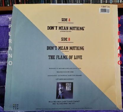 """RICHARD MARX: Don't Mean Nothing 12"""" (Extended Rock Mix). With huge rare colour POSTER. Check videos"""