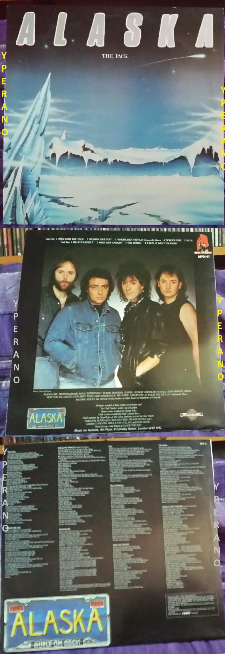 ALASKA: The Pack LP Great album by the ex -Whitesnake guitarist. Check AUDIO samples