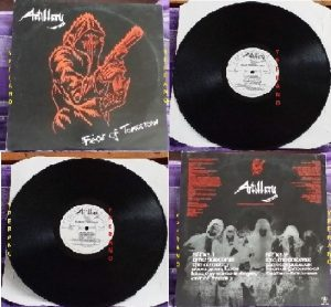 ARTILLERY: Fear of Tomorrow LP (Neat Records, 1985). Rare original UK pressing. Top technical Thrash Metal from Denmark