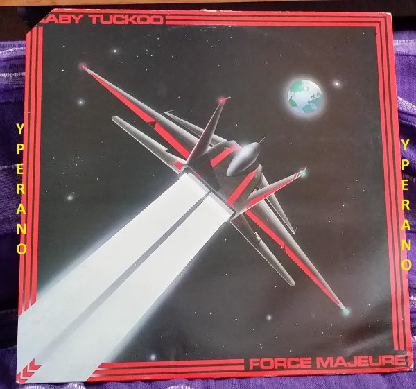 BABY TUCKOO: Force Majeure LP 1986 on Music for Nations with inner sleeve. Hard Rock NWOBHM Geddes Axe gutarist, Accept singer.