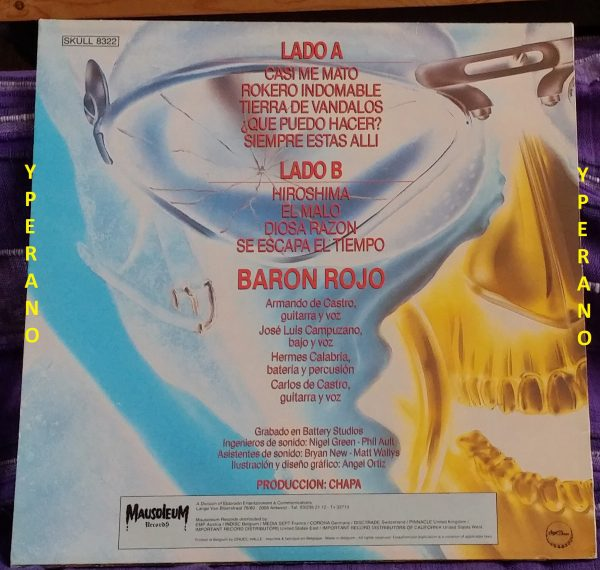 BARON ROJO: Metalmorfosis LP Mausoleum Records. Very N.W.O.B.H.M sounding. Check video