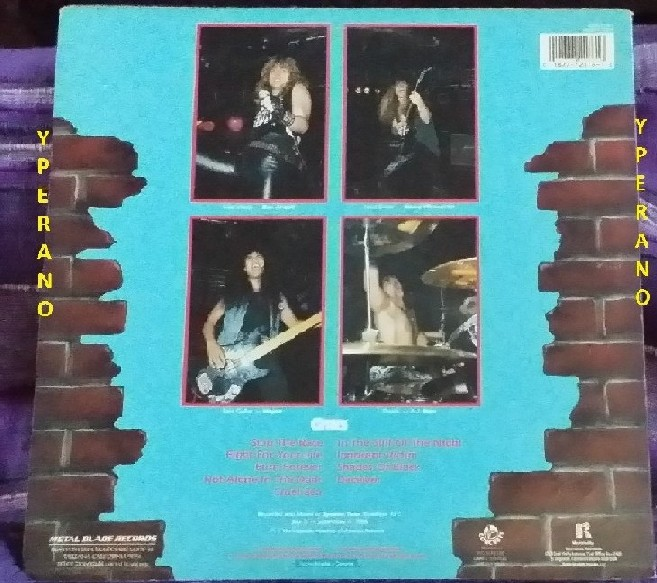 CITIES: Annihilation Absolute LP Metal Blade. on drums A.J. Pero (Twisted Sister). A la Metal Church, Savatage, Armored Saint