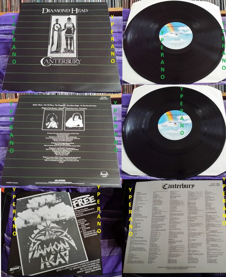 DIAMOND HEAD: Canterbury LP UK. in near mint condition w. inner. Totally classic! Check video + audio samples