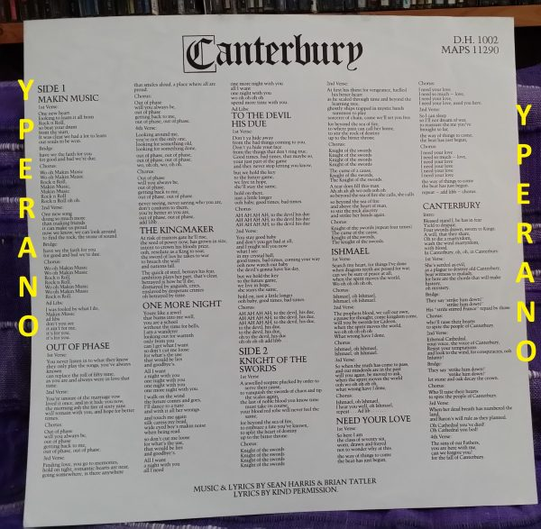 DIAMOND HEAD: Canterbury LP (incl. Inner). Totally classic. Check video + audio samples