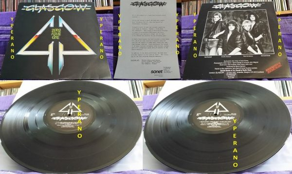 GLASGOW: Zero Four One LP with press release. Don Airey (Ozzy Osbourne, Rainbow, Deep Purple) keyboards. NWOBHM / Hard Rock