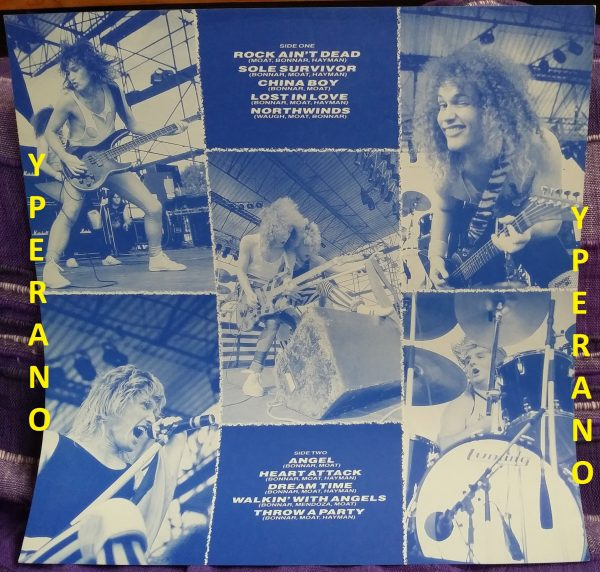 HEAVY PETTIN: Rock Ain't Dead LP PROMO + inner. 1985 NWOBHM masterpiece. Vinyl in MINT condition, original UK