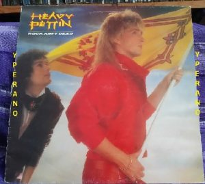 HEAVY PETTIN: Rock Ain't Dead LP 1985 NWOBHM masterpiece. Original UK.