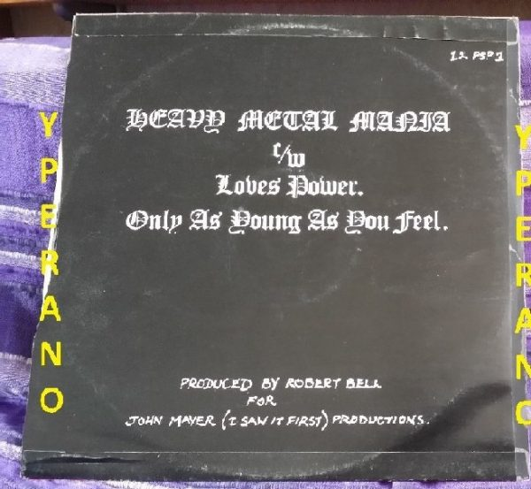 "HOLOCAUST: Heavy Metal Mania 12"". 1980 NWOBHM. Check video"
