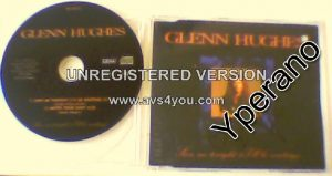 Glenn HUGHES: Save Me Tonight (I'll be waiting) CD Signed, Autographed. small punch hole. Check Stevie Wonder cover + video
