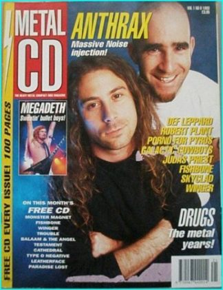 Metal CD vol 1 No 8 magazine. RARE. Anthrax, Megadeth, Def Leppard, Dream Theater, Robert Plant, Judas Priest..Best ever UK mag.