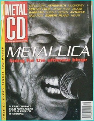 Metal CD vol 2 No 2 magazine. RARE. Metallica, Black Sabbath, Sepultura, Aerosmith, Motley Crue, Anthrax, Skid Row. Best UK mag