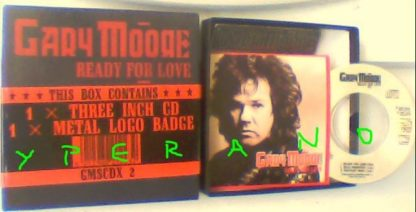 GARY MOORE: Ready For Love 3 inch CD card sleeve in 4 inch box with badge. Check video