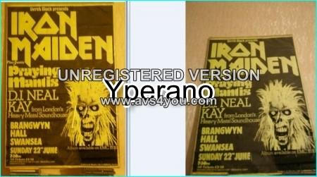 Iron Maiden poster 51X76cm (30X20inches) 1980, 1st tour!! ULTRA RARE ORIGINAL!!!!