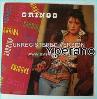 "SABRINA: Gringo 7"" Check the cover of this single and the video!! RARE"