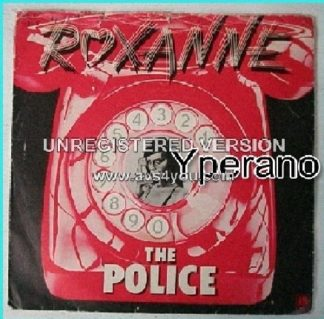 The POLICE: Roxanne + Peanuts [A&M AMS 7348 (April78, telephone picture sleeve)