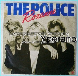 "The POLICE Roxanne + Peanuts 7"" A&M AMS 7348 (April 79, reissue, group pic sleeve)"