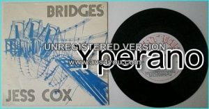 "Jess COX: Bridges 7"" SIGNED / Autographed + Check it out (unreleased ) Melodic N.W.O.B.H.M. 1st TYGERS OF PAN TANG singer"