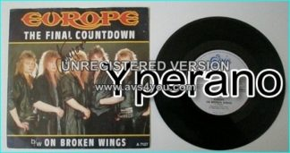EUROPE: The Final Countdown + On Broken Wings Mega classic smash hit, No.1 SINGED / autographed by singer.