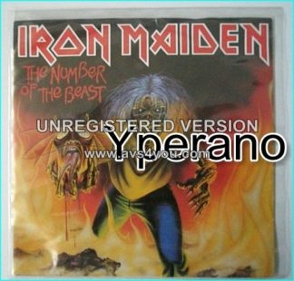 "IRON MAIDEN: The Number of the Beast 7"" + Remember Tomorrow (Live in Italy). RED VINYL."