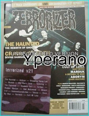 TERRORIZER 107 Mar 2003 THE HAUNTED, CRADLE OF FILTH, MARDUK, Negrophagia, Marduk, Aborym. MINT CONDITION