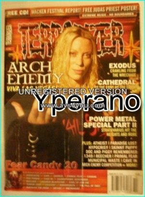 TERRORIZER 136 Oct 2005, Arch Enemy, Power Metal Special part 2, Exodus, Cathedral, Atheist, Paradise Lost, MINT CONDITION