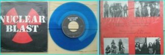 """NUCLEAR BLAST 7"""" First ever release by this label! Blue vinyl + songs by HYPOCRISY, AFFLICTED, RESURRECTION, SINISTER"""