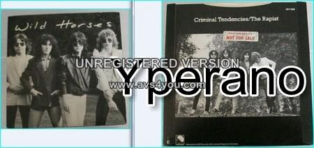 "WILD HORSES: Criminal Tendencies 7"" PROMO + The rapist (unreleased) RAINBOW, THIN LIZZY, Motorhead members! Check audio samples"
