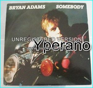 "Bryan ADAMS: Somebody 7"". Check video"