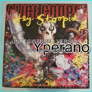 "ALICE COOPER: Hey Stoopid 7"" special version, a much better one! Slash, Ozzy Osbourne, Joe Satriani guest! Check video"