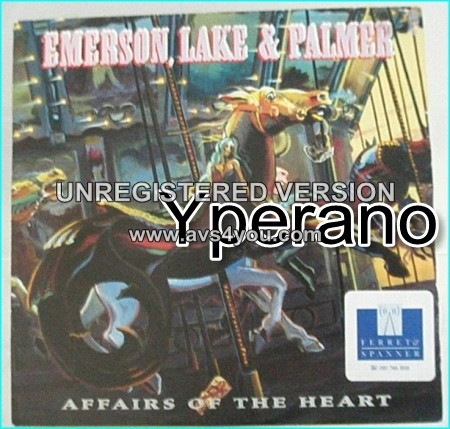 """ELP EMERSON LAKE & PALMER: Affairs Of The Heart 7"""" PROMO. Classic, but modern sounding, Prog rock. Check video"""