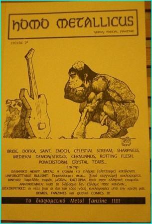 Homo Metallicus 2, HEAVY METAL zine. Bride, Dofka, Saint, Medieval Demon, Rotting Flesh, Crystal Tears, Greek Heavy Metal-