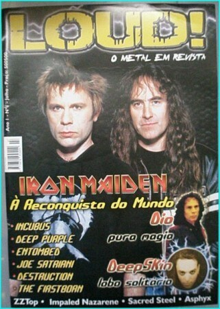 Loud magazine Iron Maiden, Dio, Incubus, Deep Purple, Entombed, Joe Satriani, Destruction, ZZ Top, The Firstborn
