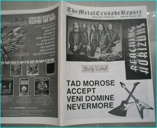 Metal Crusade magazine (1997) Angra, Tad Morose, Accept, Veni Domine, Nevermore