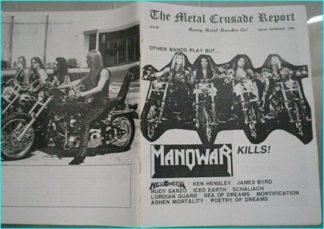 Metal Crusade magazine (1997) Manowar, Helloween, Ken Hensley, James Byrd, Rudy Sarzo, Iced Earth, Lordian Guard