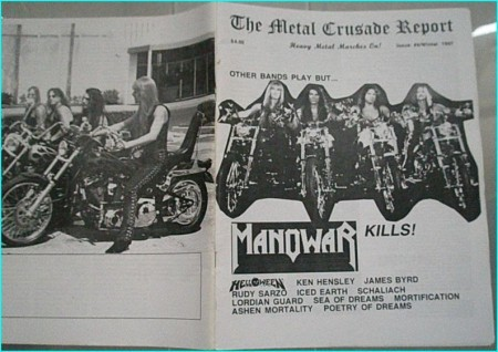 Metal Crusade magazine (1997) Manowar, Helloween, Ken Hensley, James Byrd, Rudy Sarzo, Iced Earth, Lordian Guard