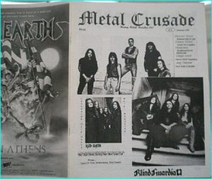 Metal Crusade magazine (1999) Iced Earth, Blind Guardian, Riot, Sacred Steel, Dream Child, Nazareth, Liege Lord, Jag Panzer