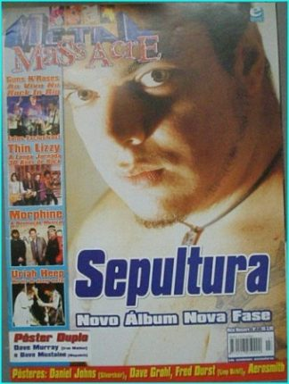 Metal Massacre magazine No. 7, Sepultura, Thin Lizzy, Uriah Heep, Guns N Roses. Free for orders of £40+