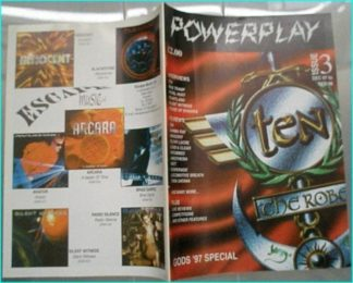 Powerplay magazine 3, 1997-1998, Ten cover, Mike Tramp, Royal Hunt, Heartland, Silent Witness, House of Shakira