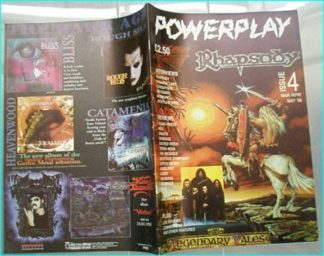 Powerplay magazine 4, 1998, Rhapsody cover, Paradise Lost, Conception, Entombed, Moonspell, Jeckyll & Hyde