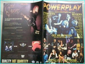 Powerplay magazine 6, 1998. Million, Bob Catley, Joe Satriani, Crown of Thorns, Yngwie Malmsteen, Aska, Fiore