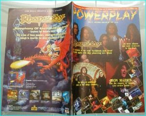 Powerplay magazine 8, 1998 - 1999, Rhapsody on cover, Black Sabbath, Pink Cream 69, Stratovarius, Hush, Heaven's Edge, Fish-