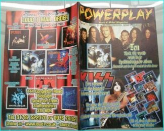 Powerplay magazine 9, 1999, Ten on cover, Kiss, Dio, Brent Michaels, Shadow Galery, Rik Emmett, Orange Goblin, Stigmata IV,