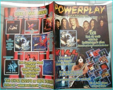 Powerplay magazine 9, 1999, Ten on cover, Kiss, Dio, Brent Michaels, Shadow Galery, Rik Emmett, Orange Goblin, Stigmata IV,