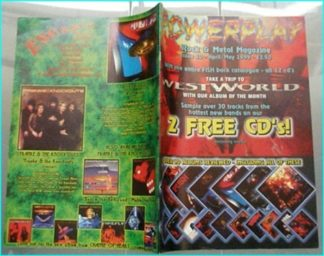 Powerplay magazine 10. 1999. Westworld on cover, Emerald Rain, Dante Fox, Aces High, Ken Tamplin, Skinlab, The Gathering-