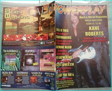 Powerplay magazine 15. 2000. Kane Roberts on cover, Kill II This, Stratovarius, Machine Head, The Gathering, Misery Loves Co.,