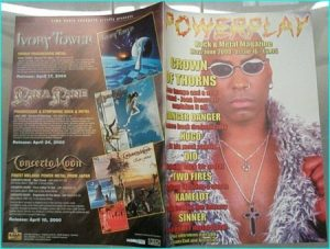 Powerplay magazine 16. 2000. Crown of Thorns on cover, Danger Danger, Hugo, Dio, Two Fires, Kamelot, Sinner, UDO, Lacuna Coil