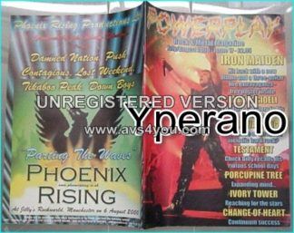 Powerplay magazine 17, 2001, Iron Maiden on cover, Johny Gioeli, Fair Warning, Testament, Porcupine Tree, Ivory Tower..