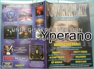 Powerplay magazine 19, 2001David Coverdale Whitesnake on cover, Joe Lynn Turner, Kip Winger, Pretty Maids, Millenium, Heartland
