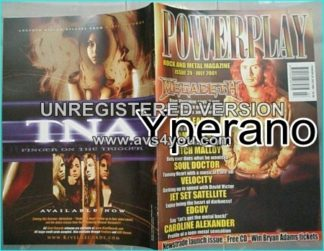 Powerplay magazine 24, 2001, Megadeth on cover, Iced Earth, Edguy, Mitch Malloy, Motorhead, Danzig, Marc Bolan, Bon Jovi,